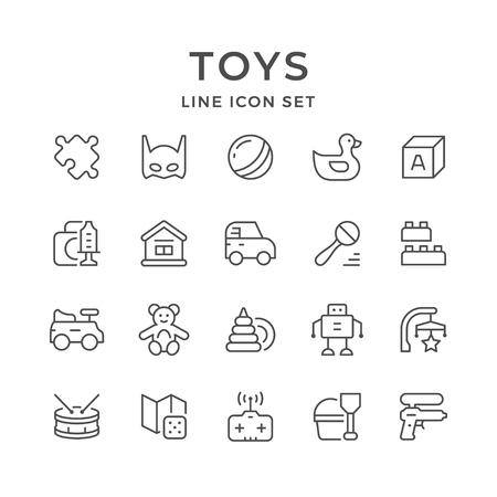 Set line icons of toys Illusztráció