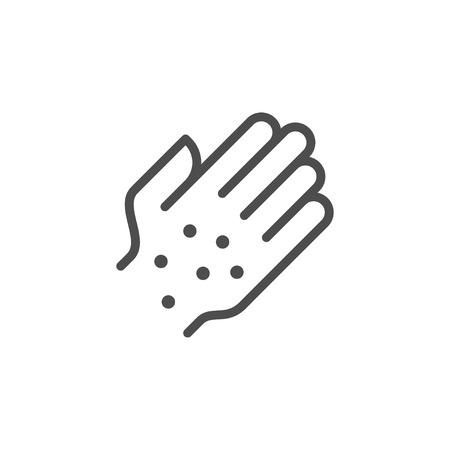 Rash line icon Vector illustration. Ilustracja