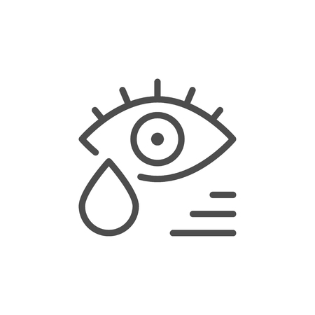 Tears line icon in white background.