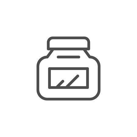 Jar line icon