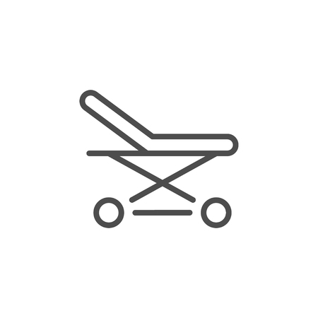 Stretchers line icon Vectores
