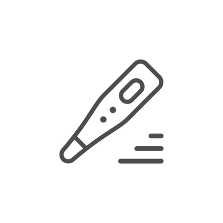 Medical thermometer line icon