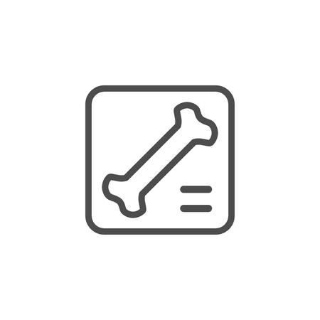 X-ray line icon