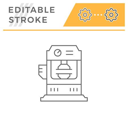 Hydraulic press machine line icon