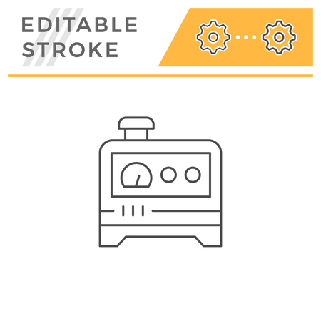 Electric generator line icon isolated on a white background. 일러스트