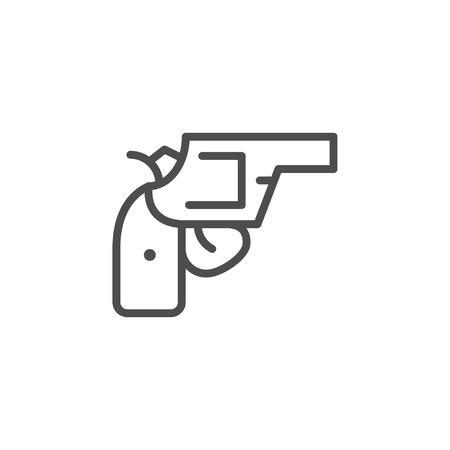 Revolver line icon Illustration