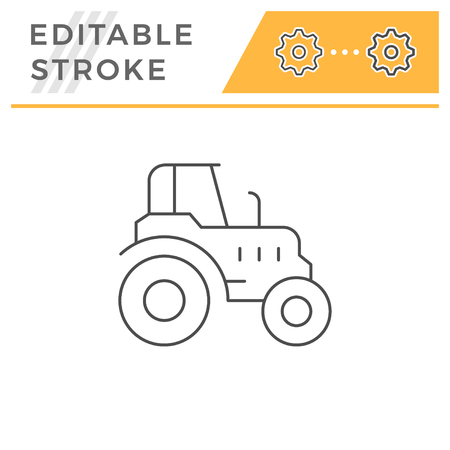 Agricultural tractor line icon