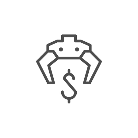 Making money line icon isolated on white. Vector illustration