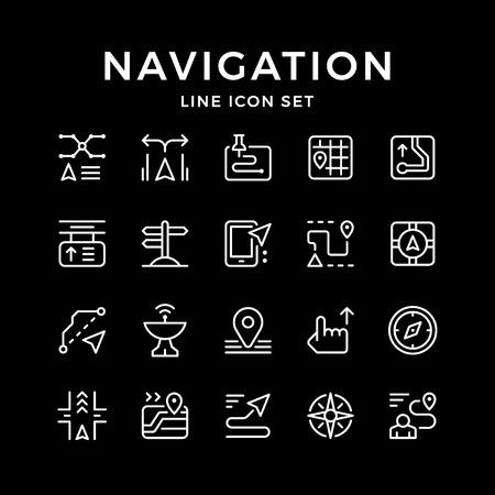 Set line icons of navigation
