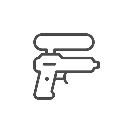 Water gun line icon Illustration