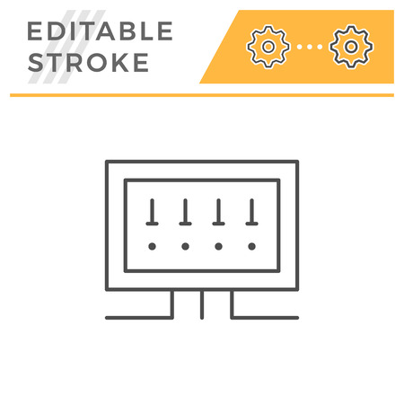 Fusebox line icon isolated on white. Editable stroke. Vector illustration
