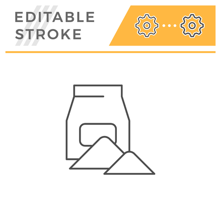 Concrete pack line icon isolated on white. Editable stroke. Vector illustration