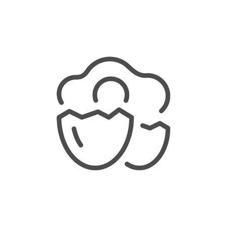 Egg line icon Illustration