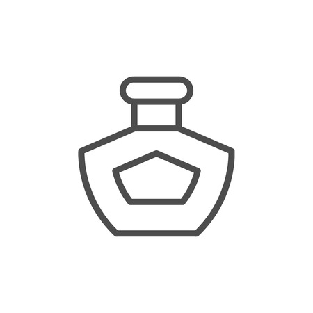 Perfume line icon isolated on white. Vector illustration