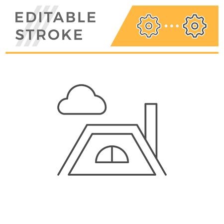 Icône de ligne de toit Vecteurs