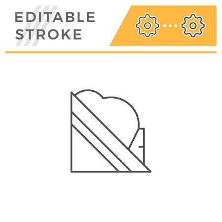 Snow guard line icon isolated on white. Editable stroke. Vector illustration Stock Illustratie