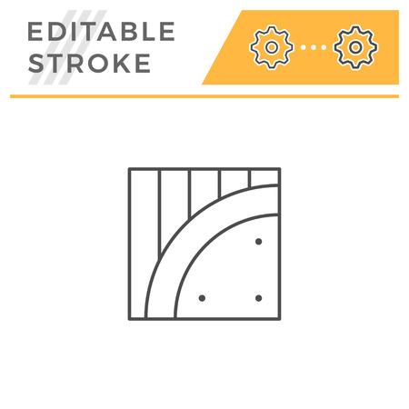 Insulation line icon isolated on white. Editable stroke. Vector illustration Stock Illustratie