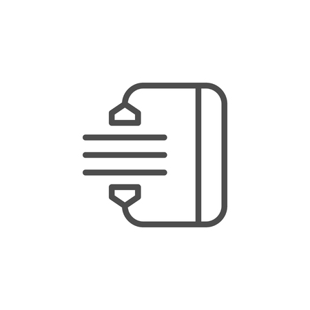 Archiving line icon isolated on white. Vector illustration