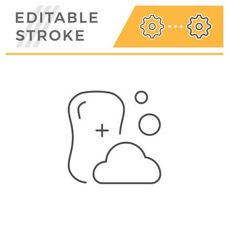 Soap line icon isolated on white. Editable stroke. Vector illustration Stock Illustratie