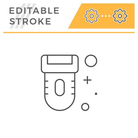 Epilator line icon isolated on white. Editable stroke. Vector illustration Vektorgrafik