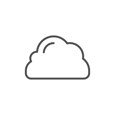 Cloud line icon isolated on white. Vector illustration Illustration