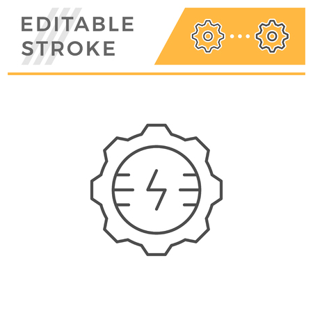 Electrical engineering line icon isolated on white. Editable stroke. Vector illustration Standard-Bild - 114389481