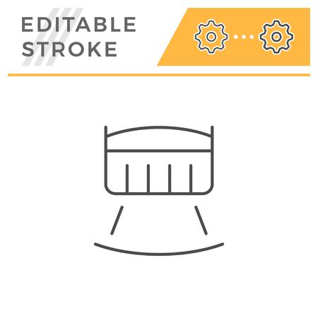 Crib line icon isolated on white. Editable stroke. Vector illustration Stock Vector - 126245010
