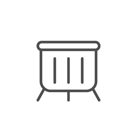 Playpen line icon isolated on white. Vector illustration Illusztráció