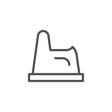 Child potty line icon isolated on white. Vector illustration