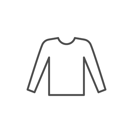 Icono de línea de manga larga masculina aislado en blanco. Ilustración vectorial