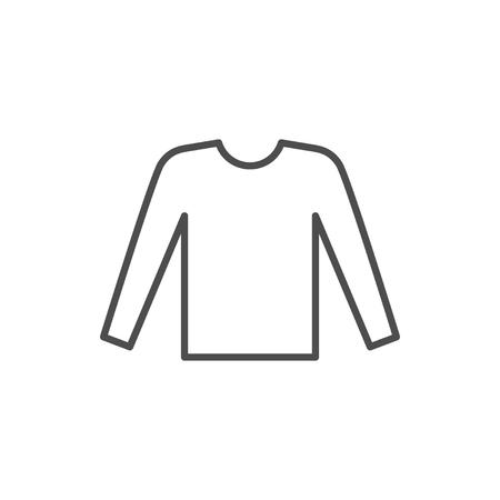 Mannelijke lange mouw lijn pictogram geïsoleerd op wit. vector illustratie
