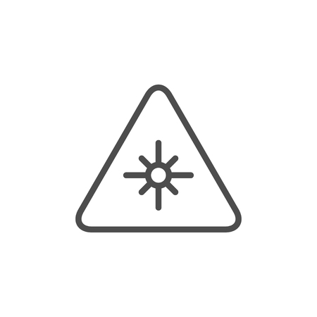 Laser warning line icon