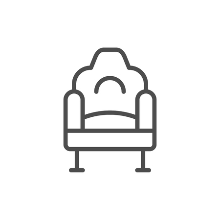 Cinema chair line icon
