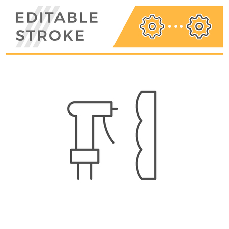 Foam insulation line icon isolated on white. Editable stroke. Vector illustration Stock Illustratie