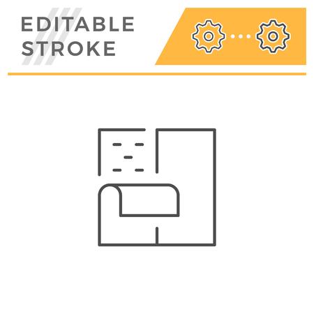 Insulation line icon Standard-Bild - 119378462