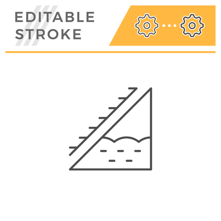 Attic insulation line icon Illustration
