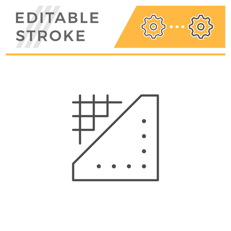Insulation line icon