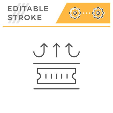 Insulation line icon isolated on white. Editable stroke. Vector illustration Illustration
