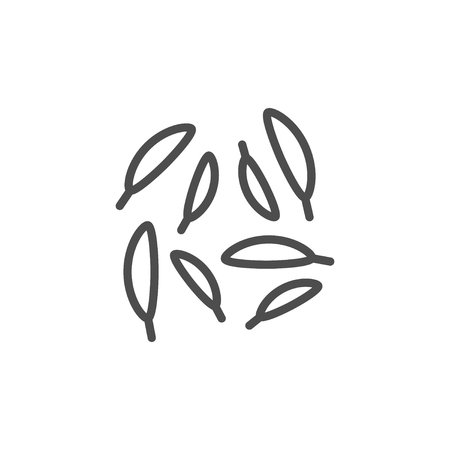 Caraway line icon