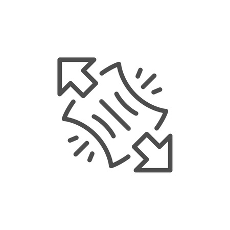 Stretching line icon
