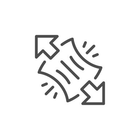 Symbol für Dehnungslinie Vektorgrafik