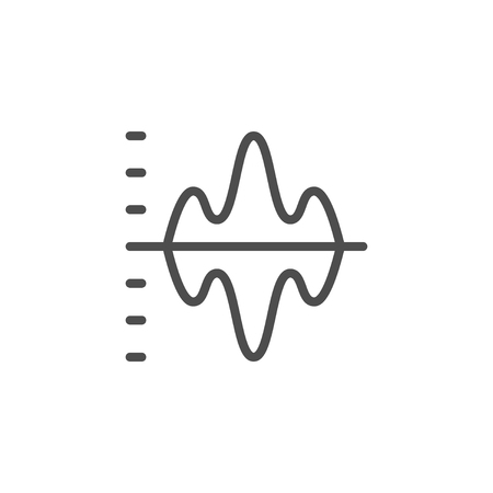 Graph line icon isolated on white. Vector illustration