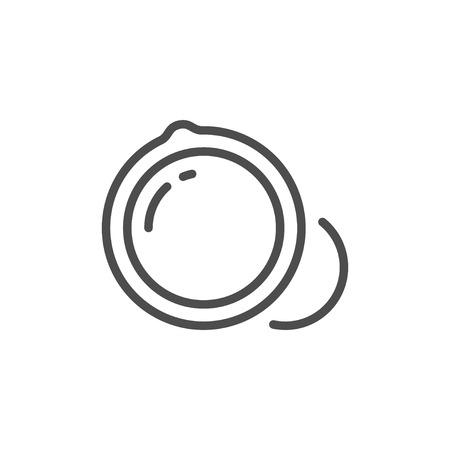 Macadamia nuts line icon 일러스트
