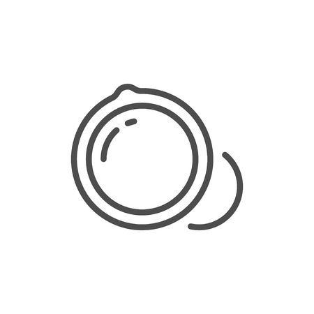 Macadamia nuts line icon Illustration
