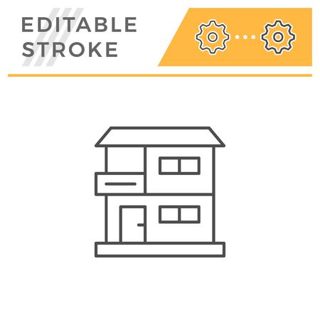 House line icon 向量圖像