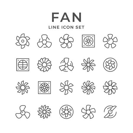 Imposta le icone della linea di fan