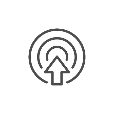 Icône de ligne de but isolé sur blanc. Illustration vectorielle