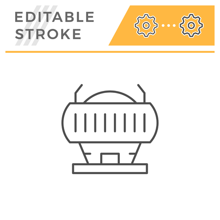 Stadium line icon Illustration