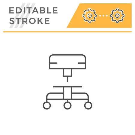 Adjustable stool line icon