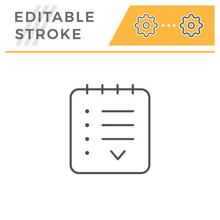 Agreement editable stroke line icon
